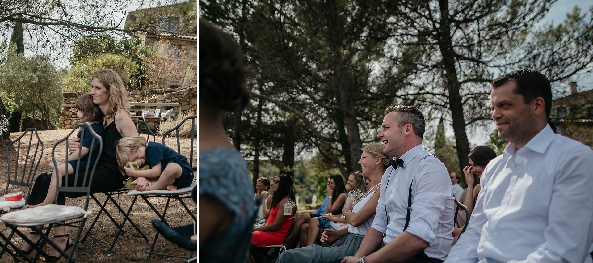 Traumhafte Hochzeit in der Provence. Es wird gelacht und geweint vor Rührung.