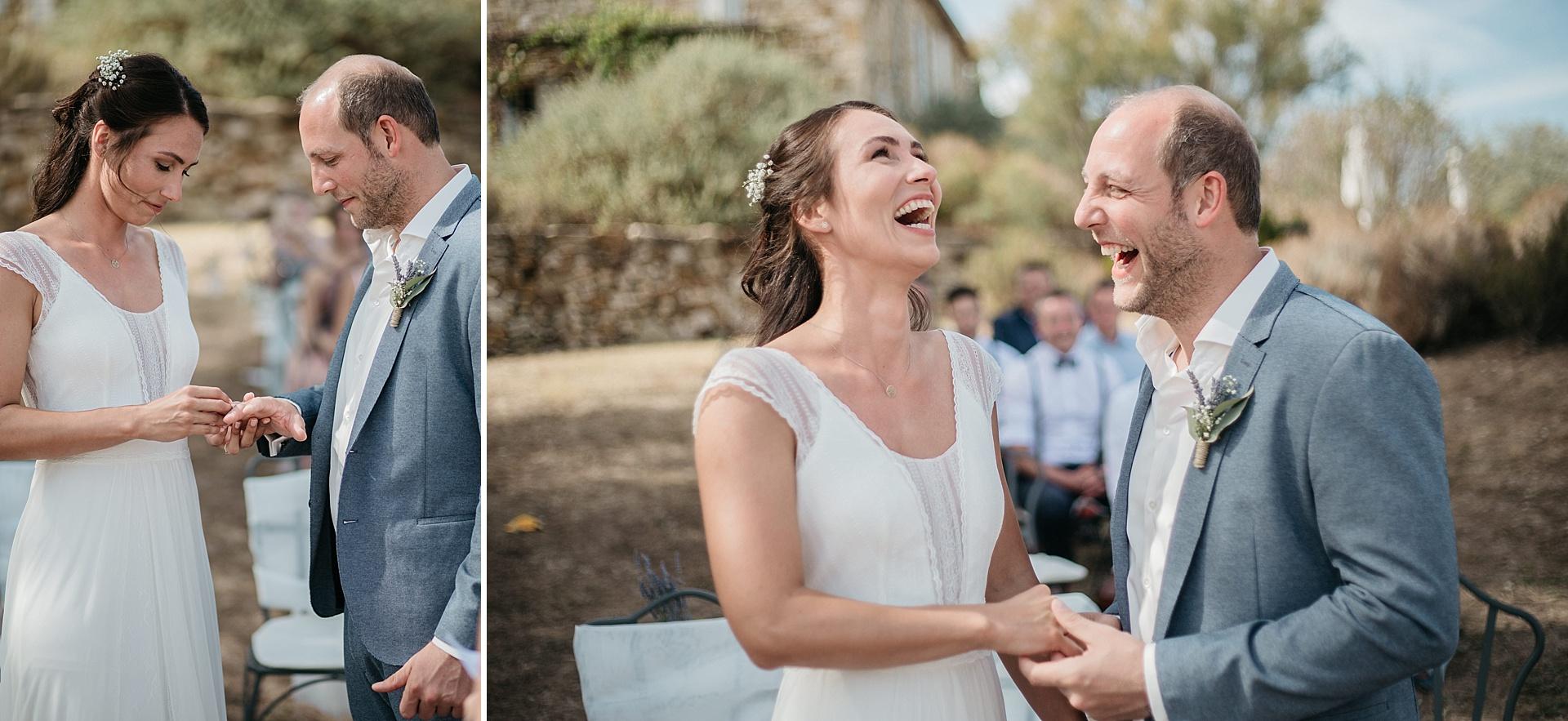 Traumhafte Hochzeit in der Provence. Die Ringübergabe.