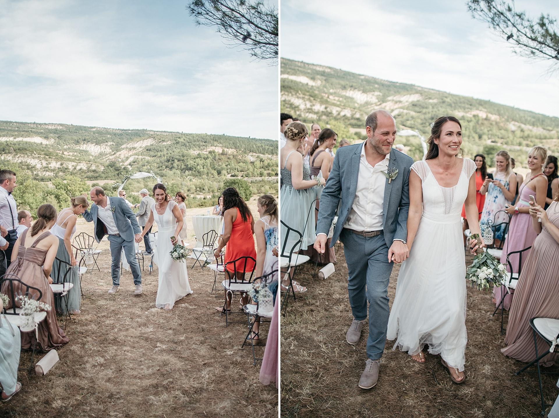 Traumhafte Hochzeit in der Provence. Der Auszug.