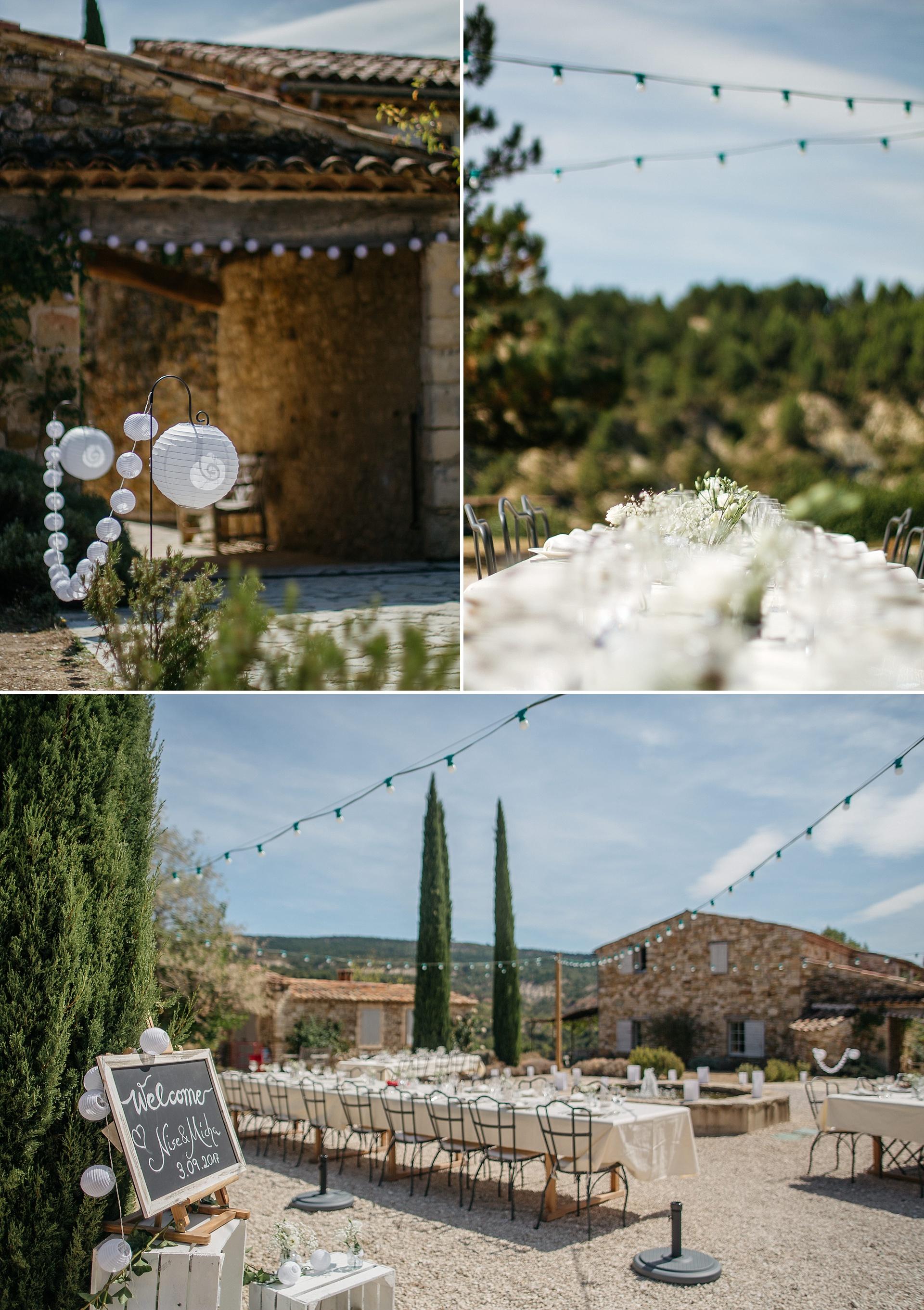 Traumhafte Hochzeit in der Provence. Hameau de Cournille. DIY. Mit viel Liebe zum Detail.