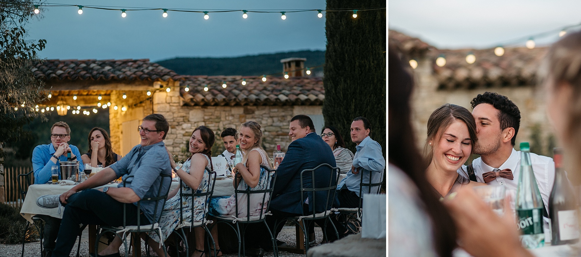 Traumhafte Hochzeit in der Provence. Die glücklichen Freunde.