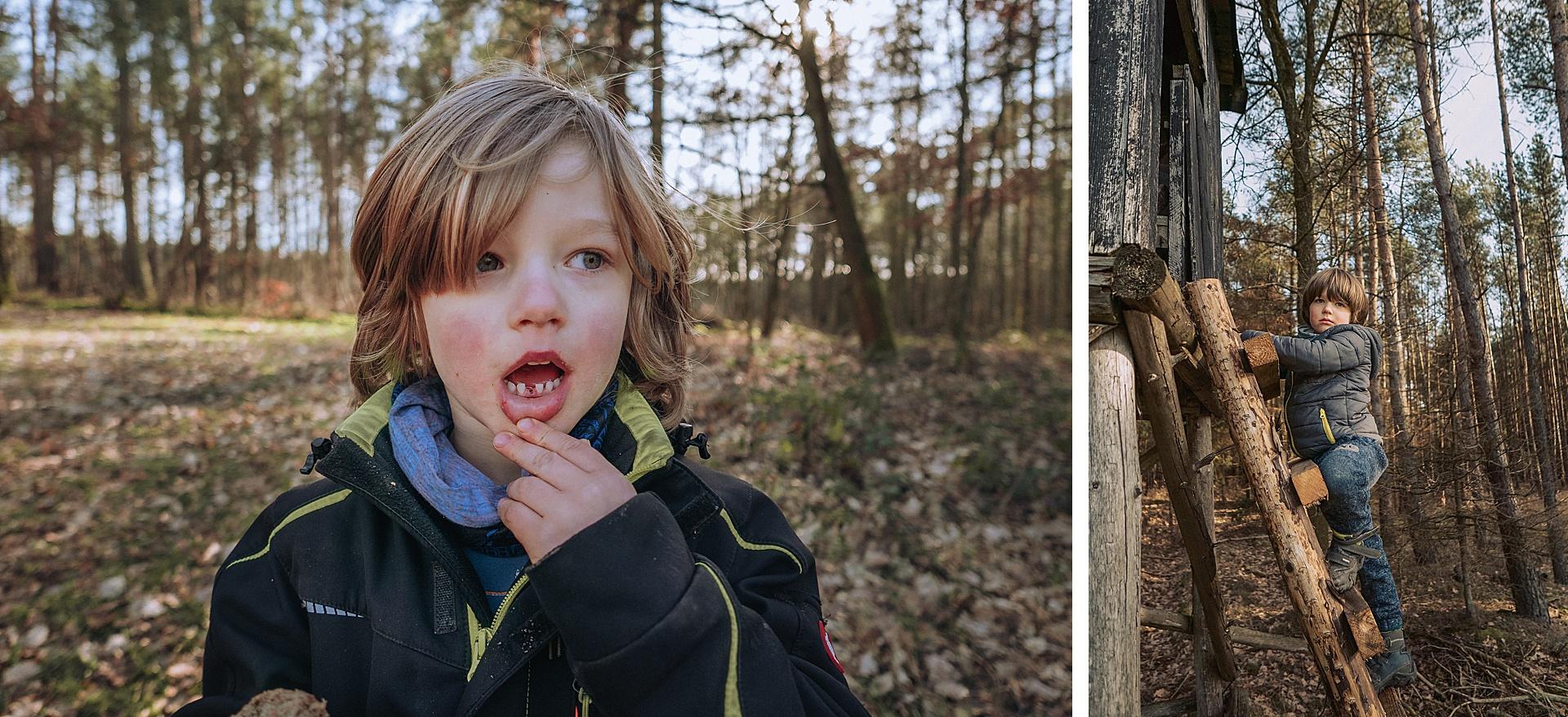 beim Familienausflug den ersten Zahn verlieren