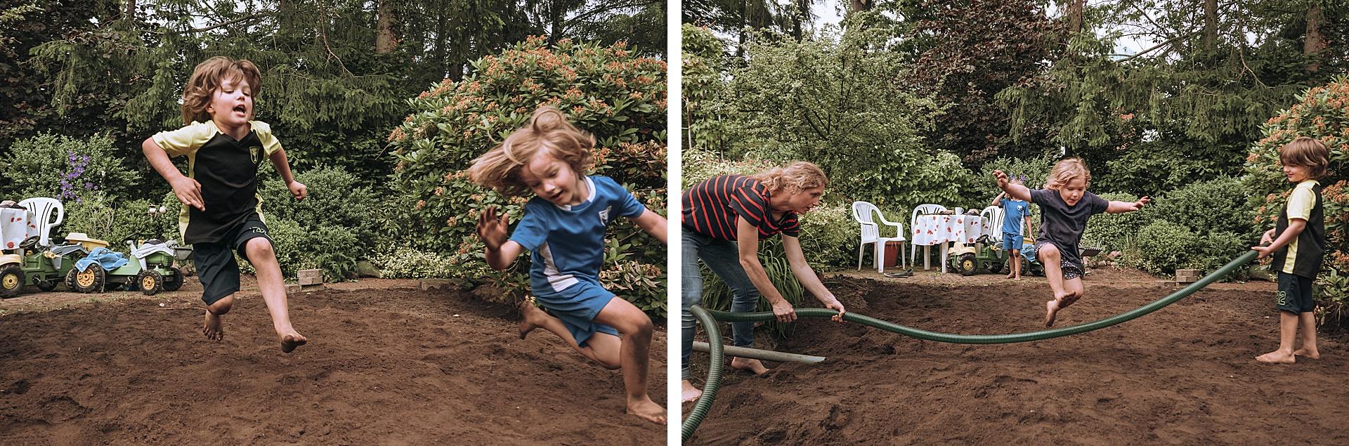 Gartenweitsprung auf dem ehemaligen Gartenteich